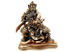 Figura Guan Gong dios guerrero chino espada someter del dragón Feng shui 14cm