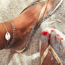 Layer Anklet Leg Bracelet Jewelry Gift Boho Shell Multi-layer Anklets For Women