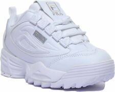 Fila Disruptor 3 Fila Lace Up Chunky Sole Trainer In Whitsilver Size Uk 6 - 12