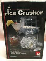 VIntage HAND CRANK ICE CRUSHER Smoke Plastic And Chrome