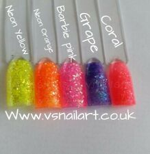 Ultra Shiny Quality pastel Bright neon iridescent Glitter multi size nail art