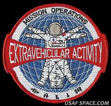 "NASA MISSION OPERATIONS EXTRAVEHICULAR ACTIVITY EVA SHUTTLE ISS 4.5"" SPACE PATCH"
