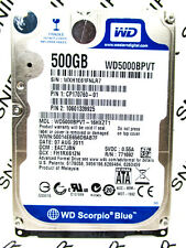 Western Digital 500GB WD5000BPVT-16HXZT1 SATA Laptop Hard Drive WIPED & TESTED!