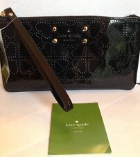 Kate Spade Authentic Metro Jemima Black Large Clutch Style Wristlet Wallet NWT