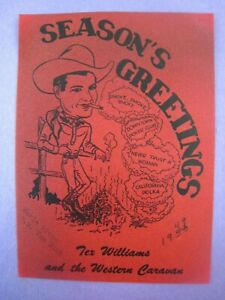 1940's  Country Western Photo...' Tex Williams,Greetings ' ...Grand Ole' Opry