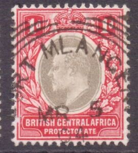 "NYASALAND British Central Africa  Squared Circle POSTMARK  ""FORT MLANGENI""  1904"