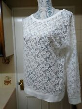 LOVELY ATMOSPHERE CREAM LACE LONG SLEEVE TOP SIZE 6-8