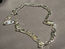 Ankle Bracelet Solid 925 Sterling Silver Anklet 4mm Square Italy Rolo Link Charm