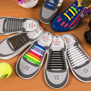 Elastische Schnürsenkel Silikon Gummi Schuhbänder Laufschuhe für Erwachsene