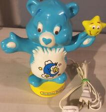 Vintage 1993 environmental Care Bears Bedtime Bear Lamp, Blue, Works. Plug in.