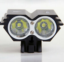 Black U2 XML 2 CREE MTB Front Light Bicycle Mountain Bike w/ Charger & Battery
