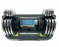 ProForm Fusion Space Saver 25lbs Adjustable Dumbbell With Tray SINGLE NEW!