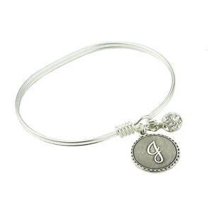 John Wind Bracelet Bangle Silver Mini Coin Initial Charm Maximal Art Jewelry