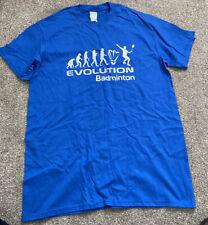 Evolution Badminton Blue Sports Gym T-shirt Size M