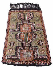 Antique Turkish Kilim Rug, Oriental Rug, Tribal Hand Woven Rug,  4.4'x 3.1'