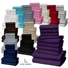 10 PIECE TOWEL BALE SET 100% EGYPTIAN COTTON FACE, HAND, BATH TOWELS