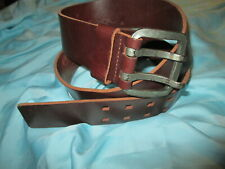 COWBOYS SPECIAL Leather WIDE BELT Size 35 36 37 38 39  FROM THE NETHERLANDS.!!