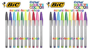BIC Cristal Multicolour Ballpoint Pen -Assorted (20 Pens Loose) UK Free Delivery