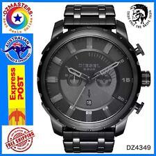 Diesel Men's DZ4349 Stronghold Black Dial Black Ion-Plated Steel Watch