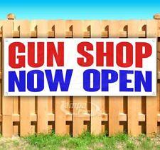 Gun Shop Now Open Advertising Vinyl Banner Flag Sign Many Sizes