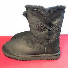 UGG BAILEY MARIKO 1009262 Womens US Sz 8 Black Boots Shearling EU39