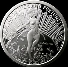 5 OZ .999 SILVER GWEN THE GOOD LUCK FAIRY SCULPTED PROOF TOM GRINDBERG COIN RARE