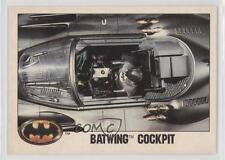 1989 Topps Batman Factory Set Glossy #105 Batwing Cockpit Non-Sports Card 0c6