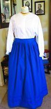 Civil War Dress~Frontier~Victorian Style-100% Cotton Royal Blue Work/Camp Skirt