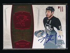 JORDAN STAAL 2010-11 DOMINION SIGNATURE RUBY AUTO 37/50 PITTSBURGH PENGUINS