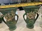 roseville pottery Peony (pair)