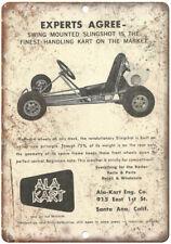"Ala Kart Vintage Go Kart Ad 10"" x 7"" Reproduction Metal Sign A337"