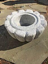 "24"" Japanese Zen Garden Granite stone Lotus Water Basin fountain"
