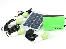 Solar Lighting System w/FM Radio 5W LED lamps Twin USB Green energy Remote