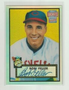 2001 Topps ARCHIVES RESERVE Bob Feller RC REPRINT ON CARD AUTO Indians HOF