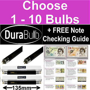 F4 T5 BLB 4W UV Ultraviolet Fake Bank Bill Detector Bulbs Money Checker Tubes