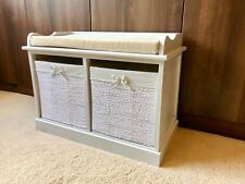 Brand New Fully Assembled Children Kids Bedroom Bench Furniture Storage Retro