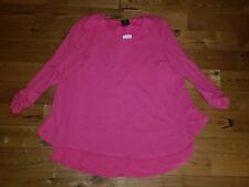 NWT Women's Rose Tropical GRACE ELEMENTS 3/4 Sleeve Top Size Large L $68