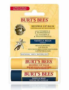 Burt's Bees® 100% Natural Moisturising Lip Balm, Duo Value Pack, Beeswax