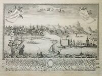ORIGINAL MAP - Johann, Christian LEOPOLD PANORMUS, PALERMO Pub. Augsburg 1725