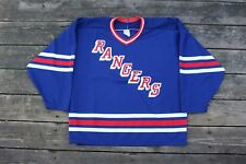 Vintage 1990s CCM Maska New York Rangers Away Hockey Jersey size Large
