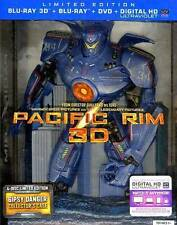 PACIFIC RIM Limited Edition 3D Blu-ray 4-Disc Gipsy Danger Collector's Case OOP