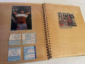 RARE! 1980s Kiss concert tickets signatures photos scrapbook band tour ticket
