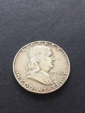 More details for 1952 usa franklin silver 1/2 dollar /vf