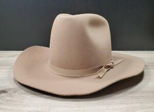 LIGHT BROWN TRAILBOSS WOOL WESTERN COWBOY HAT 7 TEXAS USA NEW/OTHER