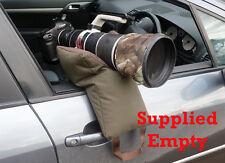 GRAPPLER CAMERA BEAN BAG. A large U shaped bag for telephoto lenses. Empty.