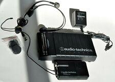 Audio-Technica UHF wireless headset Model ATW-R03 + microphone system