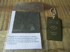 Johnny Hallyday-Ancienne plaque G.I Americaine,Johnny Hallyday-Laiton chromé