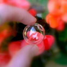 10 Glass Balls  with hole 25mm (miniature/ globes/ hollow/ vials/ bottles)
