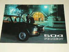 Prospectus PEUGEOT 504 1972    brochure  prospekt catalogue car auto