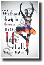 Without Discipline, There is No Life at All - Katharine Hepburn - NEW POSTER